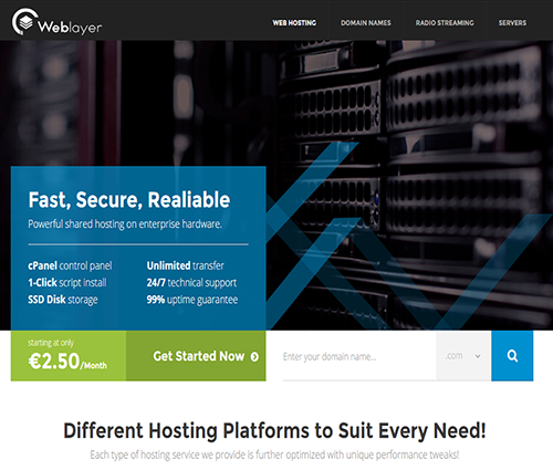 WEBLAYER HOSTING - Web Hosting, Radios Online, VPS, Domain Names